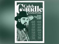 Caleb Caudle Spring Tour Poster