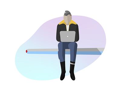 illustration for a plane article shop modern plane flat vector design illustration