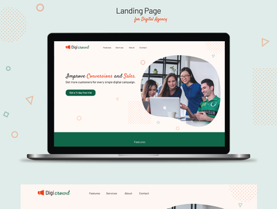 landing page for digital agency typography web ux designs