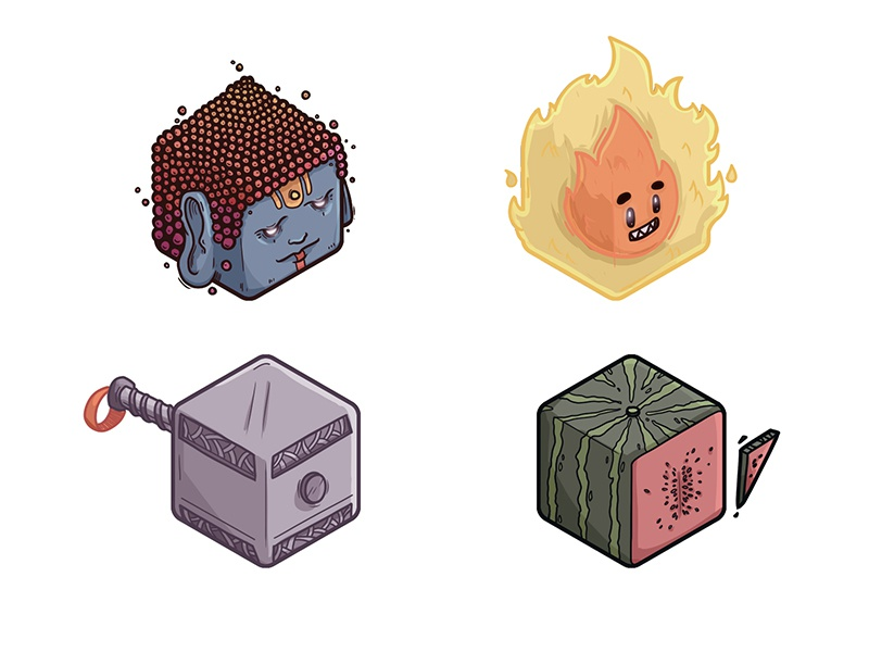 Cube Icons - Magic Objects by Illustration Factory on Dribbble