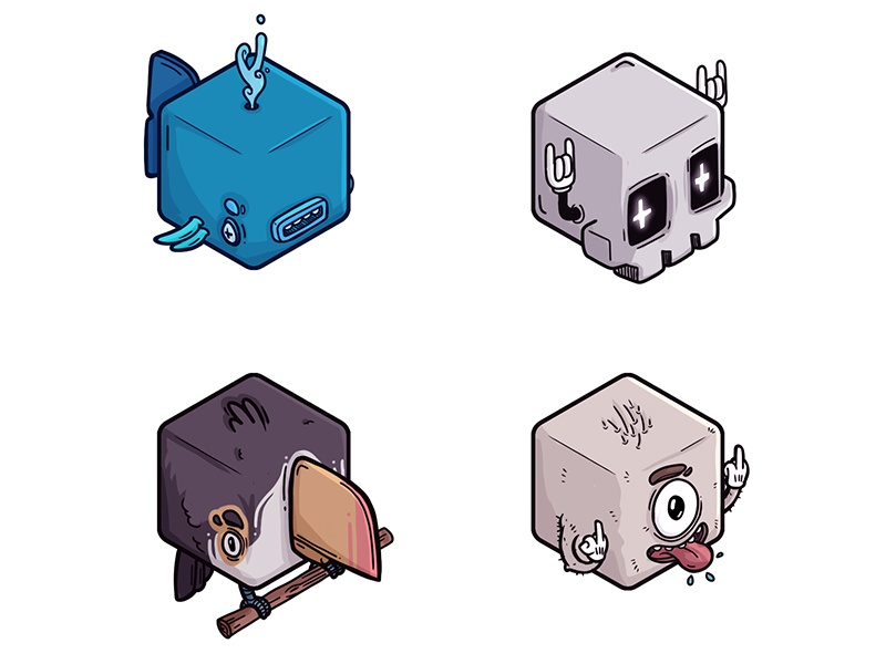 Cube Icons - Misc 3 by Illustration Factory on Dribbble