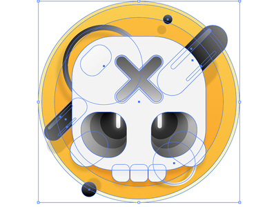 Skulltula Vector Design icon app game interface character design vector illustration