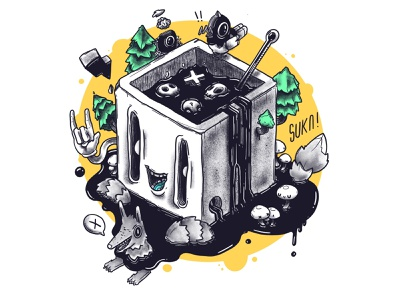 Deadly Coffee! ui animation isometric icon app game funny character design illustration