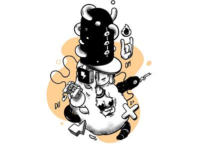 Voodoo Shaman Lady design logo animation isometric icon app funny interactive character illustration