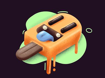 Gelatto icon design crazy fun isometric icon procreate character illustration design