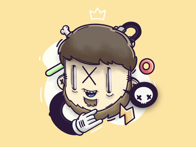 Avatar Design animation 2d gif loop. gif ui app icon game funny interactive character design illustration
