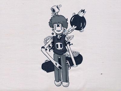 Skater Boi app interface icon game funny character design illustration