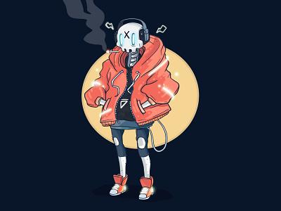 Skull Boi app interface icon game interactive character design illustration