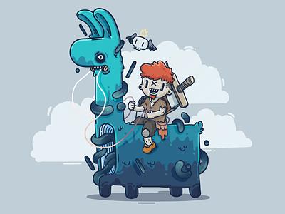 Magic Llama Rider illu vector animation game design game character illustration design