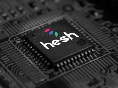HESH Logo branding tech logo
