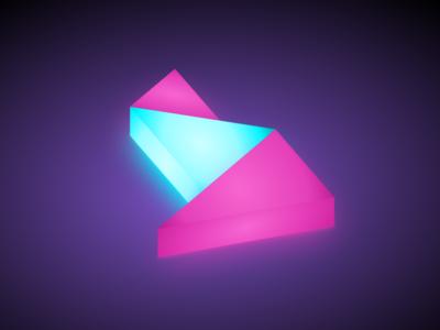 Logo sandbox: Neon light 3d logo