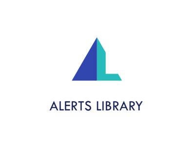 Alerts Library logo design logo