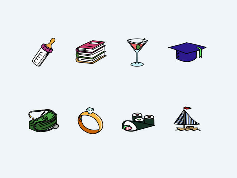 Random icons vector icon illustration