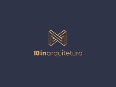 10in arquitetura architecture branding logo