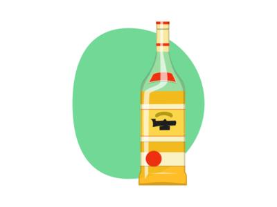 Tequila artwork illustration mexico inkscape bottle sketch tequila