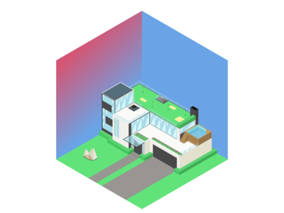 Isometric mansion