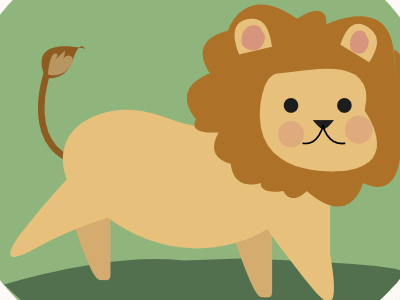 Brave Little Lion 2 illustration the attic jungle lion