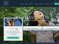Insurance Agency  blue teal full screen web web design hover playfair proxima girl