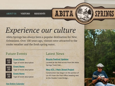 Abita Culture wood vertical brown teal sign calendar culture