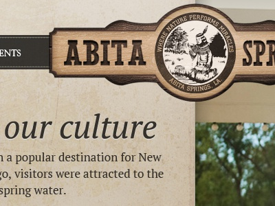 Abita Header wood vertical brown sign culture texture