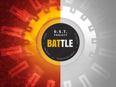 OST Project: Battle  red orange black grey circle fire texture battle designersmx