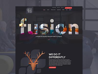 Hotel Fusion travel funky design user interface design web design