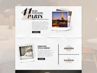 Hotel Paradis paris travel design user interface design web design