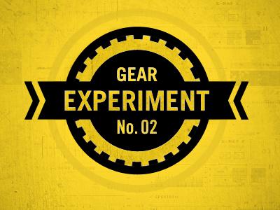 Gear Experiment No.2 gear texture identity black yellow circle experiment fun