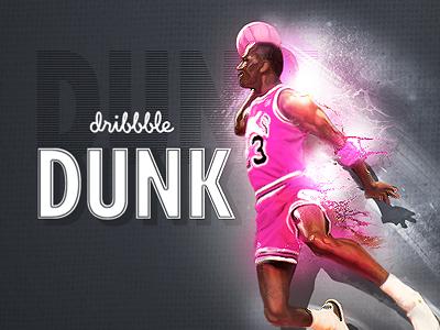 MJ Dribbble Dunk dunk rebound splash texture