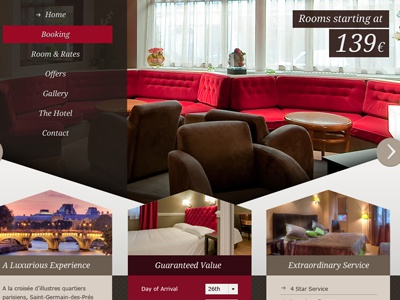 Angled Couches  red luxury cta brown angles web web design