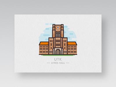 college postcards #1: utk high school bob qian postcard knoxville university of tennessee university college qian bob utk