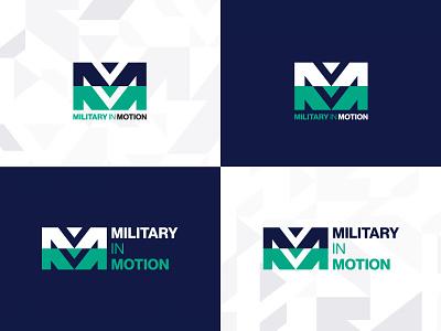 Military in Motion - Logo identity design branding design design logo branding