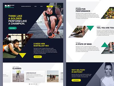 Military in Motion - Marketing website responsive website design web design branding