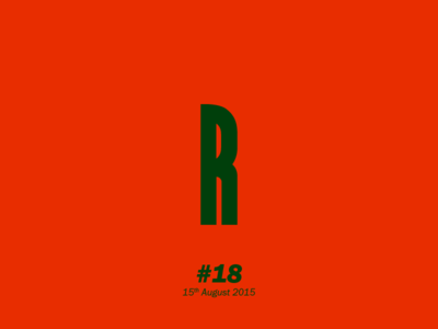 """The letter """"R"""" typography letterform aletteraday"""