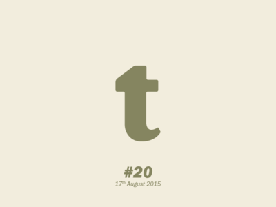 """The letter """"t"""" typography letterform aletteraday"""