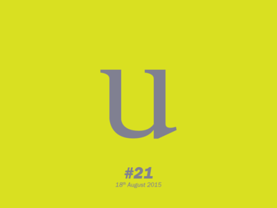 """The letter """"U"""" typography letterform aletteraday"""