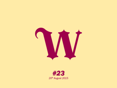 """The letter """"W"""" typography letterform aletteraday"""