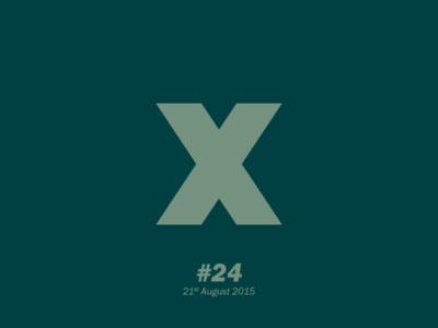 """The letter """"X"""" typography letterform aletteraday"""