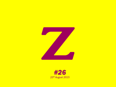 """The letter """"Z"""" typography letterform aletteraday"""