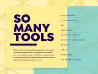 So many tools