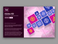 Adobe XD splash screen