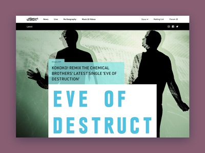 The Chemical Brothers responsive web design web design