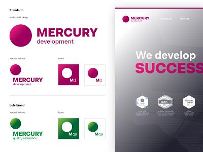 Mercury Development - Rebrand design illustrator typography branding