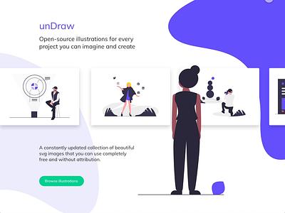 unDraw gallery animation web design xd design