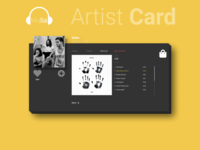 Music Platform    Artist Card