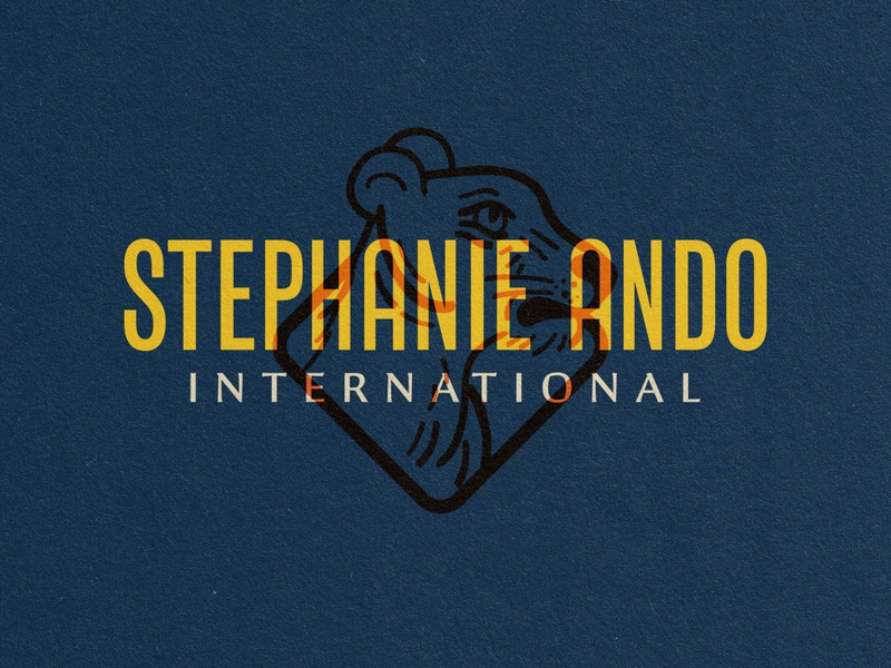 Stephanie Ando big cat lioness illustration brand identity logo design logo