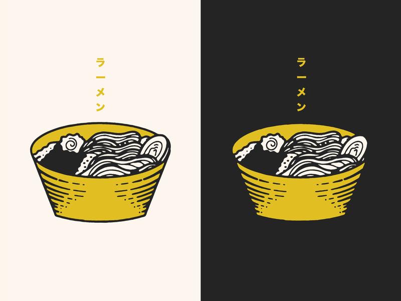 ラーメン japan ramen vector texture illustration