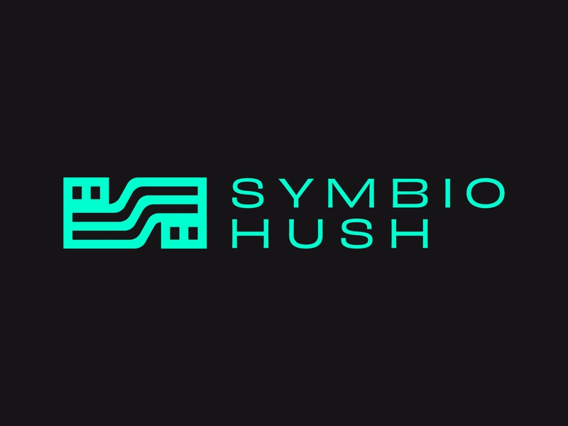 Symbio Hush branding design vector business cards logo marketing agency san antonio brand identity