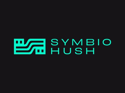 Symbio Hush branding design vector business cards logo marketing agency san antonio brand identity