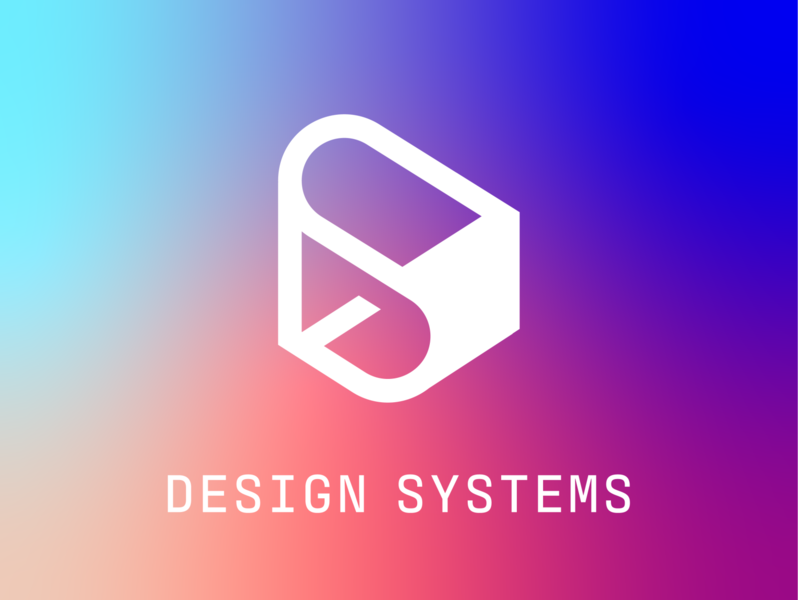 Design Systems Cut brand identity branding vector design systems isometric art isometric icon logo